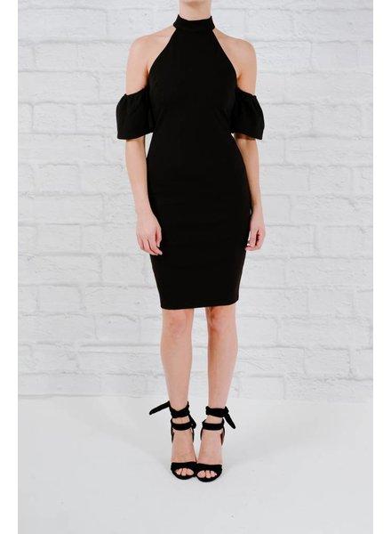 Mini Open ruffle sleeve dress