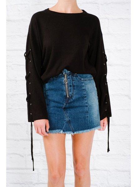 Skirt Denim two tone mini skirt