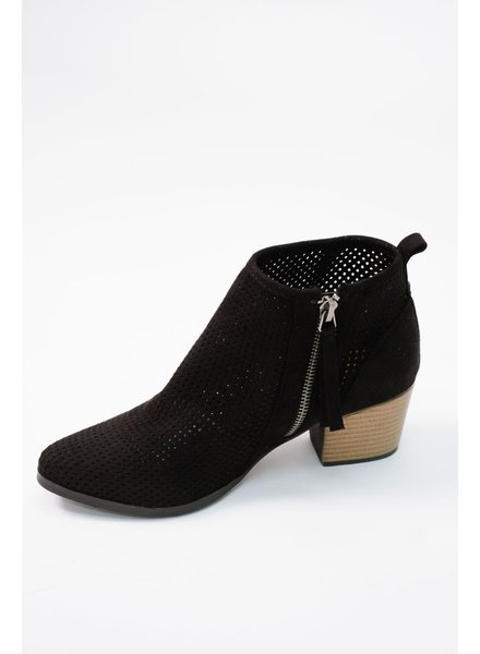 Bootie Suede mesh ankle bootie