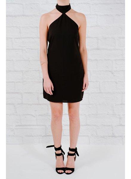 Mini High neck bare shoulder dress