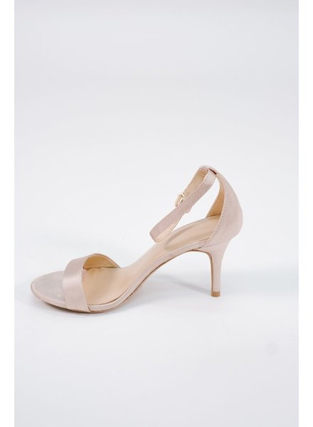 Pump Satin nude minimal low heel pump