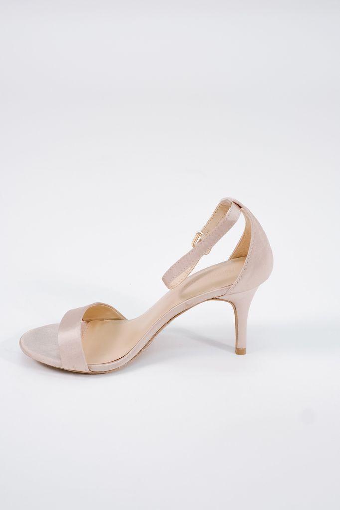 Pump Satin nude minimal low heel pump
