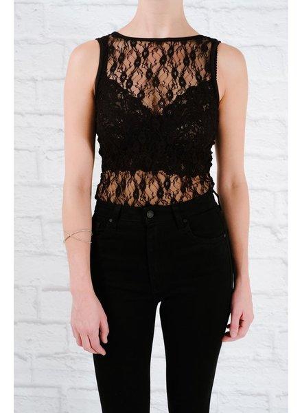 Bodysuit Lace strappy back bodysuit