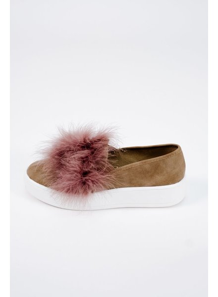 Flat Fur detail sneakers