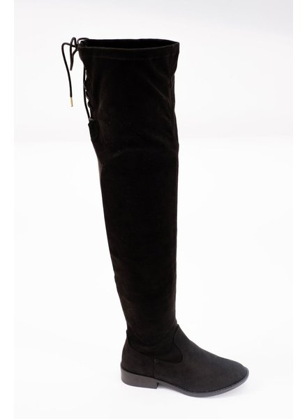 Boot Black OTK back laced boot