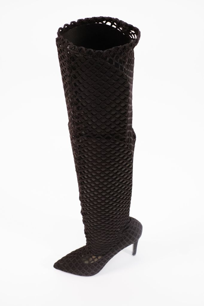 Boot Fishnet OTK fitted boot