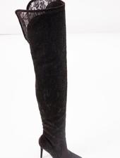 Boot Black lace OTK boot