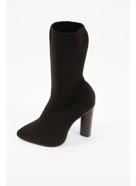 Boot Black fabric sock boot