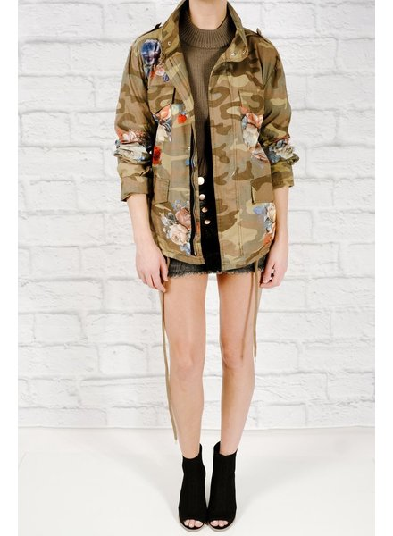 Lightweight Floral army jacket