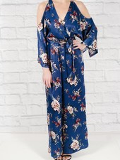 Jumpsuit Satin floral jumpsuit