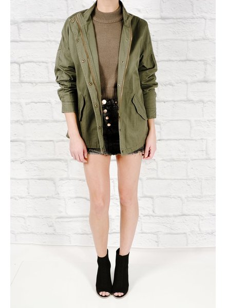 Lightweight Hello beautiful army jacket