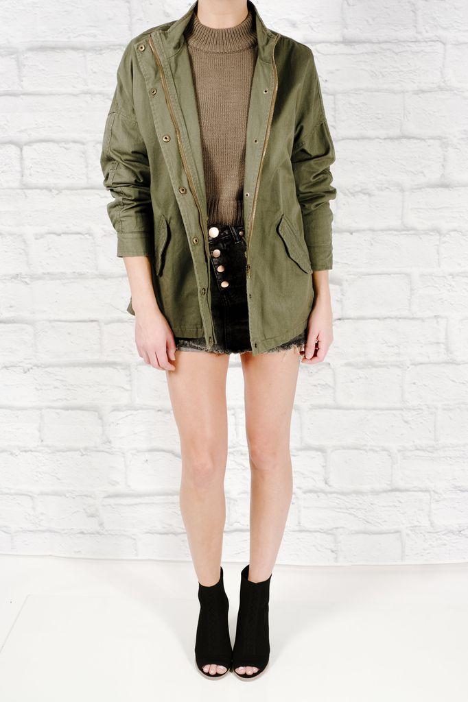 Lightweight Hello beautiful army jacket