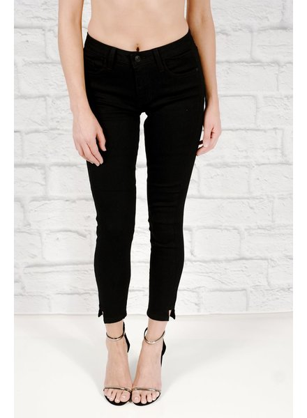 Jeans Black ankle cut-out skinny jean