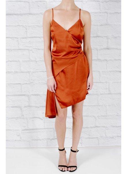 Dressy Satin ruffle tier dress