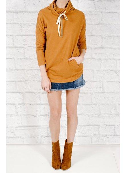 Sweatshirt Burnt orange cowl sweatshirt