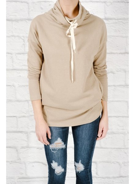 Sweatshirt Sage cowl sweatshirt
