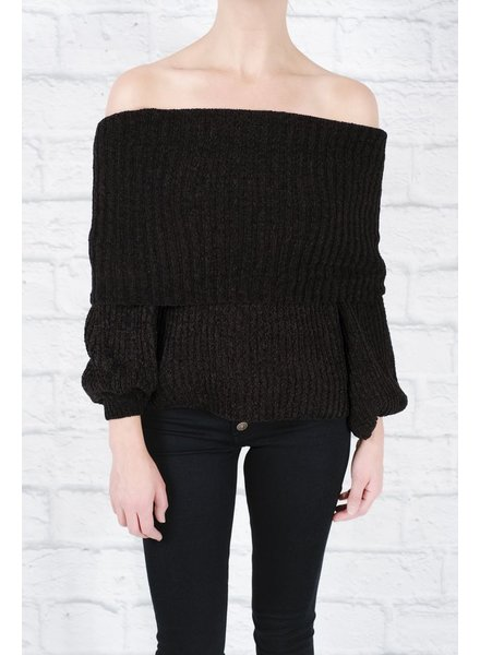 Sweater Black cozy ots sweater