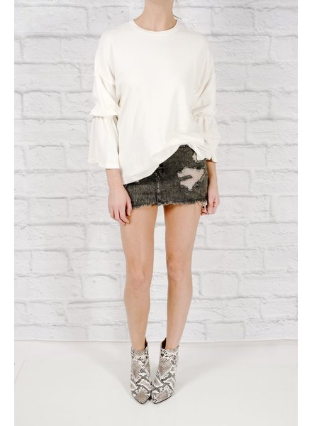 Sweatshirt Bell sleeved sweatshirt