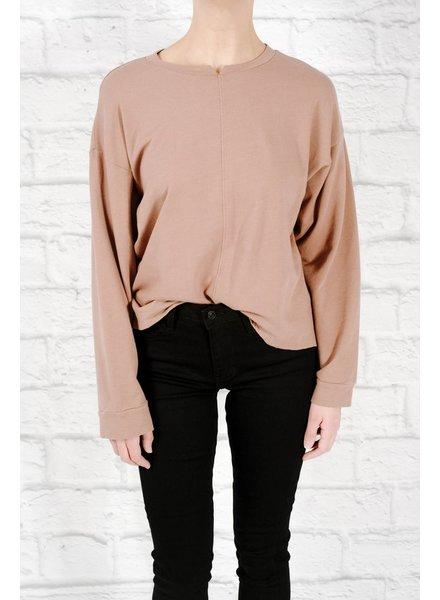 Sweatshirt Mini cut neck chesnut sweatshirt