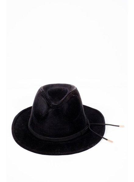 Hat Black suede fedora