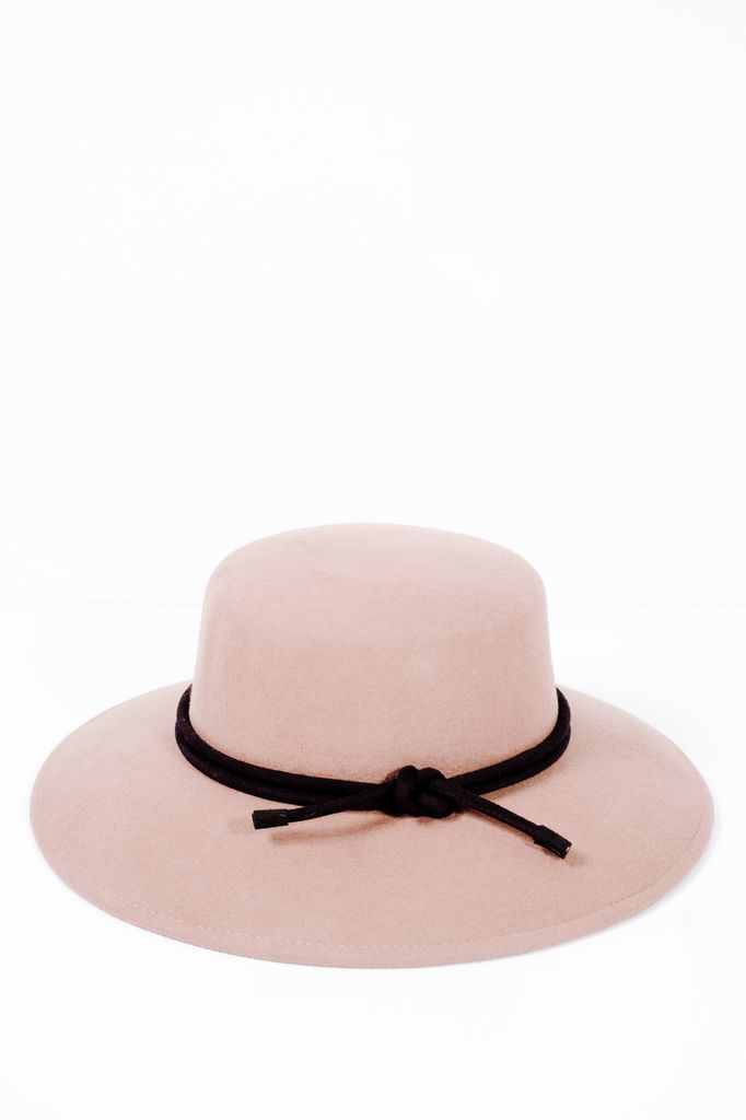 Hat Tan oversized boater hat