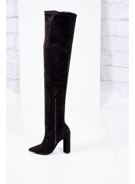 Boot Tall heeled otk boot