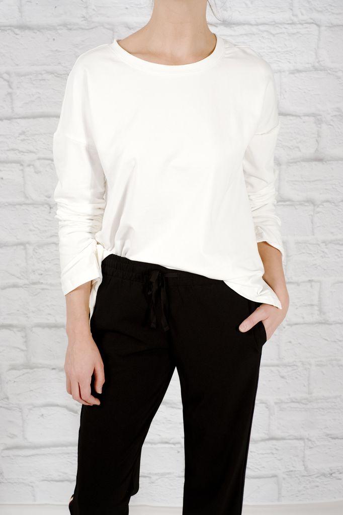 T-shirt Drawstring scrunch sleeve tee