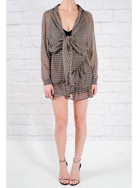 Skirt Checkered ruffled mini