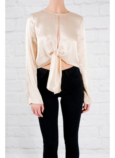 Blouse Champagne tie blouse