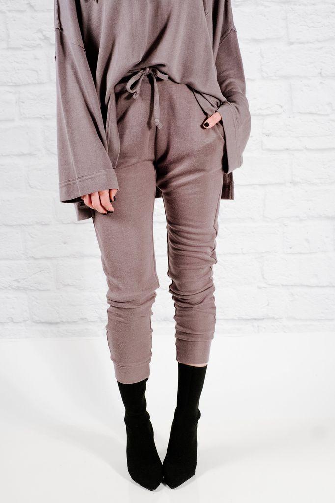 Pants Grey knit joggers