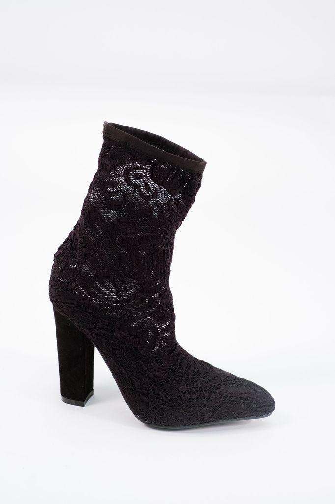 Bootie Sheer lace sock bootie
