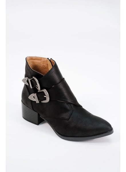 Bootie Western side buckle bootie
