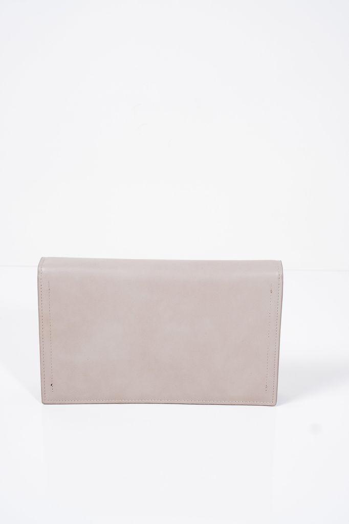 Clutch Grey envelope clutch