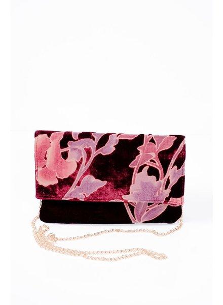 Clutch Deep burgundy velvet clutch