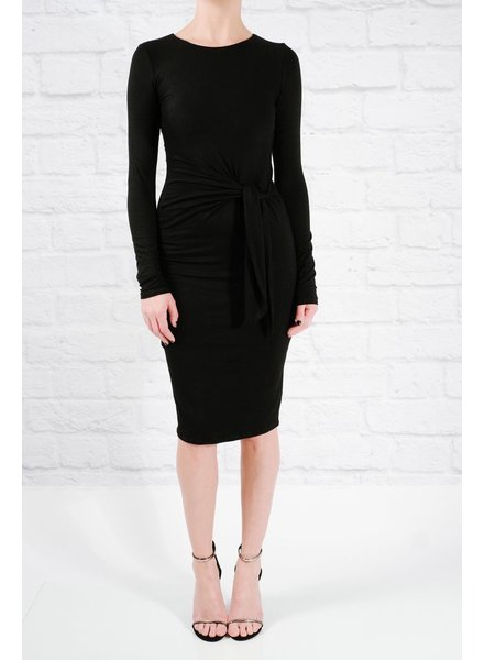 Casual Tie front jersey dress