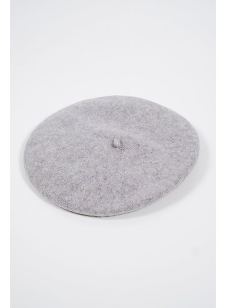 Hat Grey wool beret