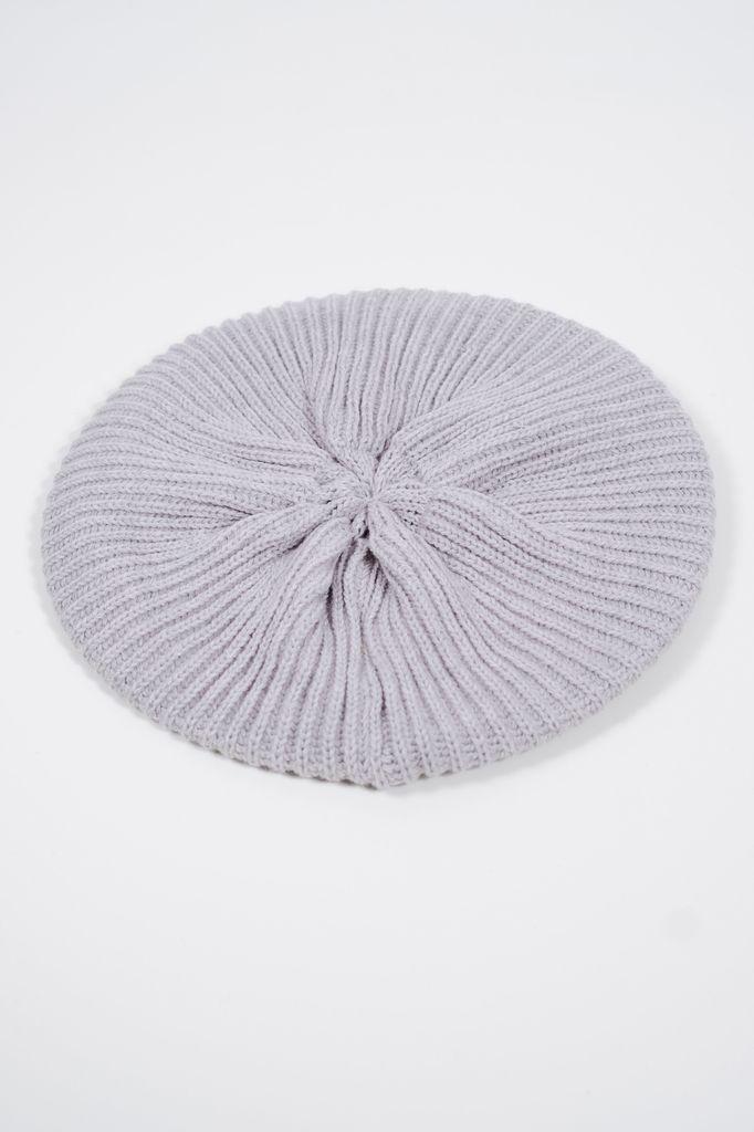Hat Light grey knit beret