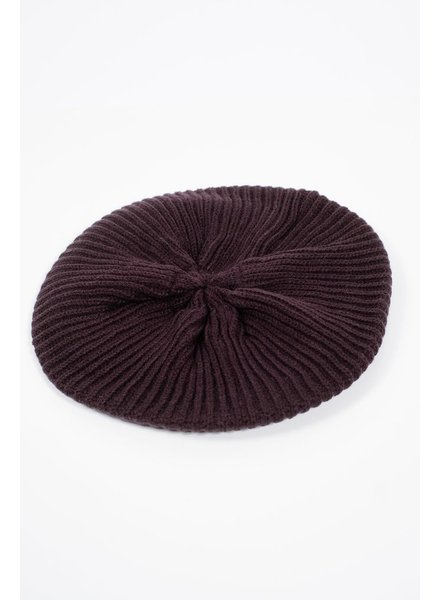 Hat Black knit beret