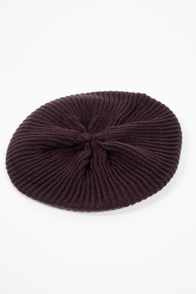 Hat Black knit beret