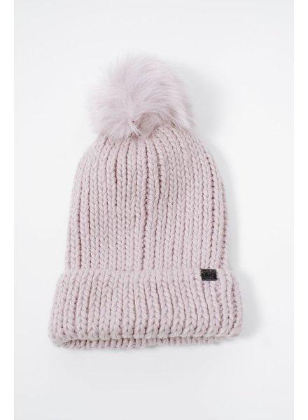Halter Faux fur knit hat