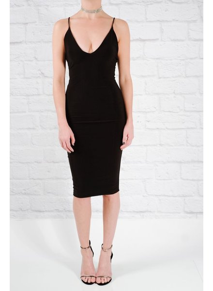 Midi Fitted v-neck midi