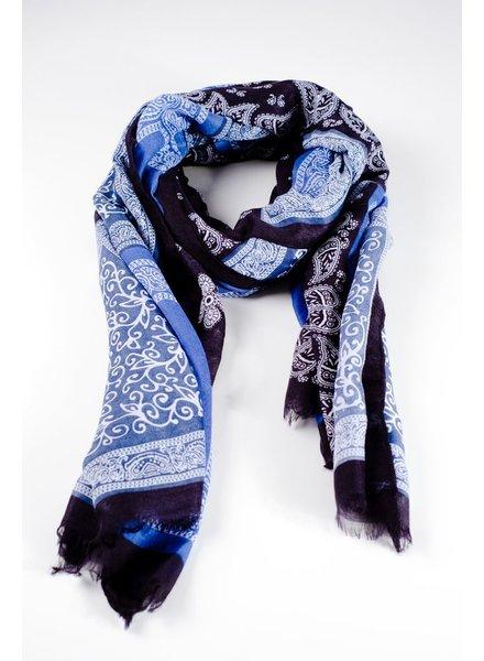 Scarf Blue bandana print scarf