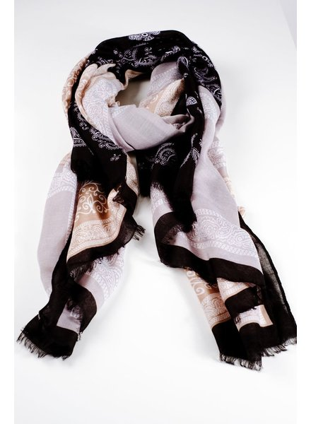 Scarf Black bandana print scarf