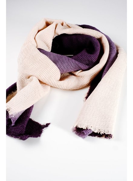 Scarf Navy crinkled scarf