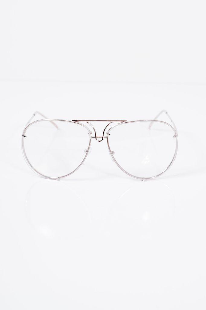 Sunglasses Clear retro aviator glasses