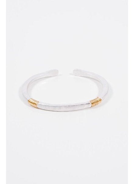 Gold Silver open wire detail cuff