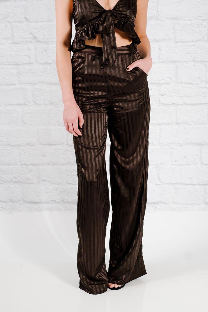 Pants Black striped trousers