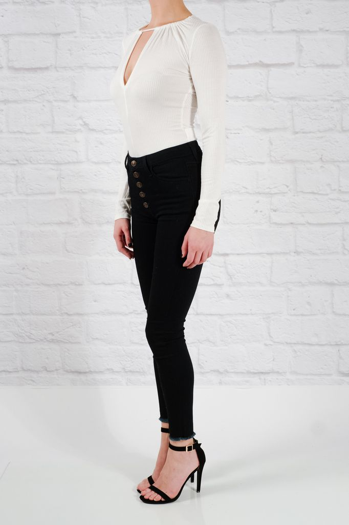 Bodysuit White keyhole bodysuit