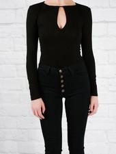 Bodysuit Black keyhole bodysuit
