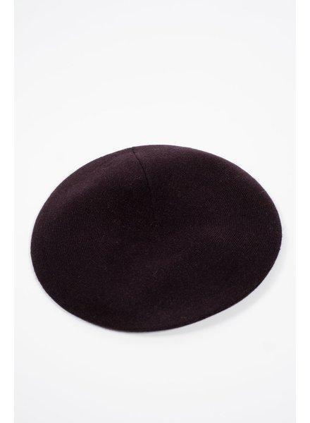 Hat Black thin knit beret